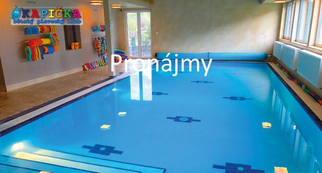 Kapička dětský plavecký klub - Pronájmy